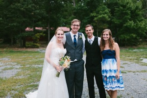 I love this picture of the four of us from our wedding day. One of my favorite moments from the day is actually when they told us a secret- they were pregnant with Nolan! Such an exciting moment!